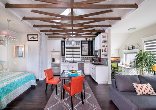Higher ceilings with exposed beams