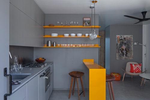 Minimalist kitchen island
